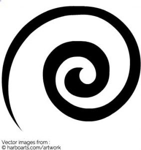 t shirt graphic design software circle swirl vector graphics template fu