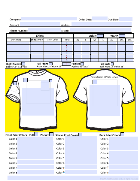 t shirt order form template microsoft word template business. Black Bedroom Furniture Sets. Home Design Ideas