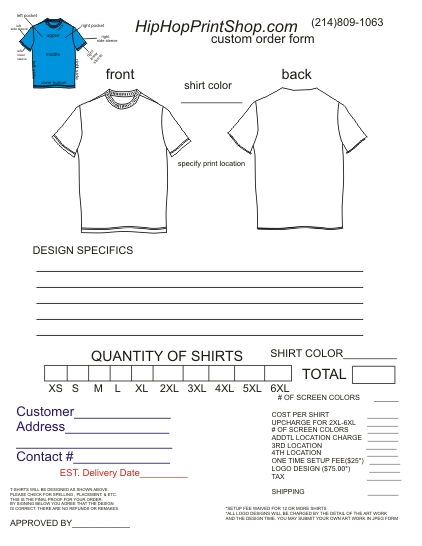 custom order forms template selo l ink co