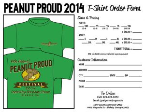 t shirt order forms peanut proud tshirt order form