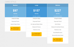 table card template wordpress pricing table pro