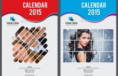 table card template clean wall calendar