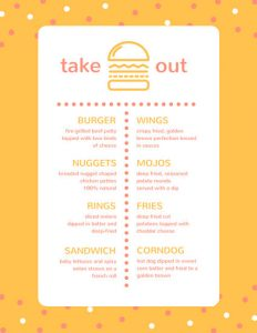 take out menu template canva yellow burger take out menu macbzykncqo