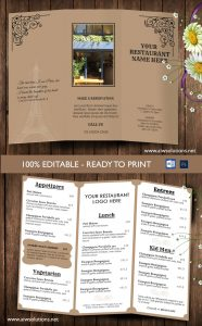 take out menu template take out menu template