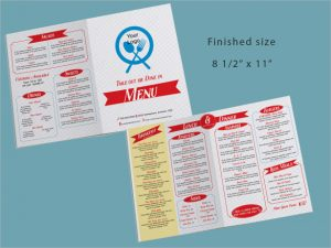 take out menu template take out restaurant menu template download