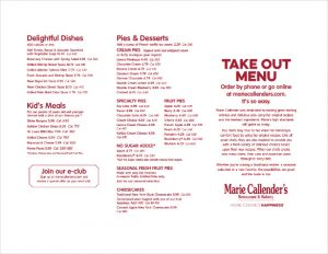 take out menu template takeout menu free template download