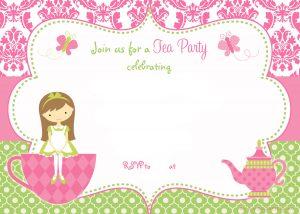 tea party invitation template free printable tea party birthday invitation