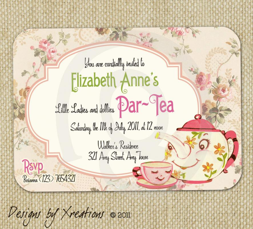 Tea Party Invitation Template | Template Business