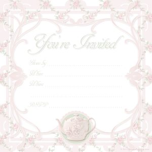 tea party invitation template pink tea party invitation
