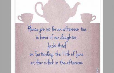 tea party invitation template tea party invitation template