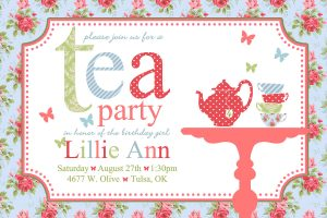 tea party invitation template tea party invitations wording template