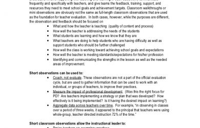 teacher evaluation forms giving feedback to teachers
