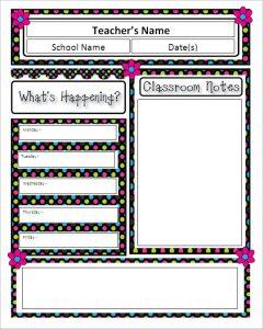teacher newsletter templates microsoft classroom newsletter template download
