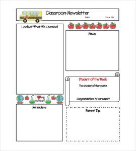 teacher newsletter templates middle school classroom newsletter template