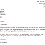 teacher resignation letter teacher resignation letter