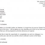 teacher resignation letter teacher resignation letter