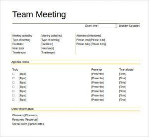 team meeting agenda template download team meeting agenda template printable