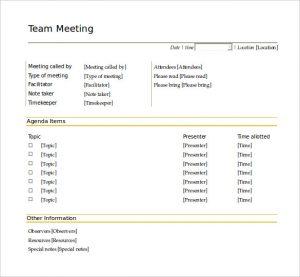 team meeting agenda template free team meeting agenda template word doc download