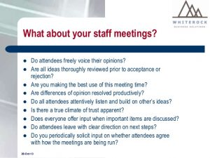 team meeting agendas running effective meetings presentation