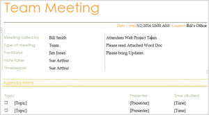 team meeting agendas teammtg