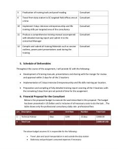 technical proposal template consultants technical financial proposal