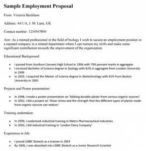 technical proposal template sample employment proposal