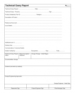 technical report formats technical query report