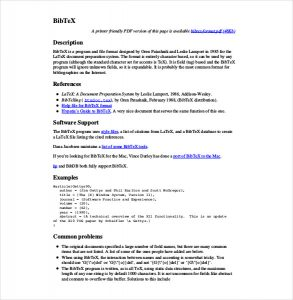 technical report template bibtex technical report