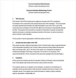 technical report template evaluation technical report