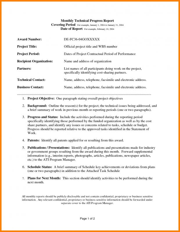Technical report template template business for Technical service report template