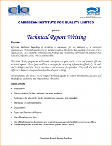 technical report template technical report template