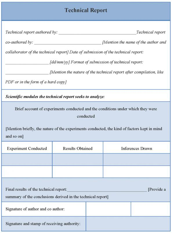 Technical Report Template | Template Business
