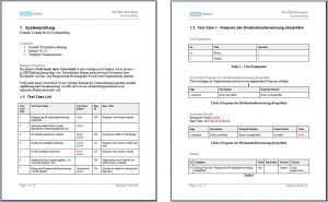 technical reporting format image