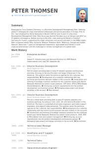 technical resume template enterprisearchitectresume example