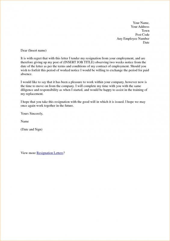 template for business letter