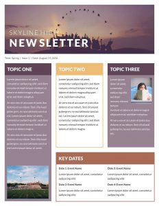 template for newsletter newsletter classroom@x