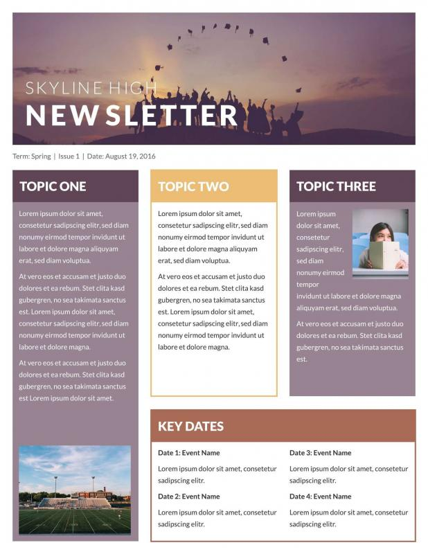 template for newsletter