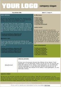 template for newsletter newsletter template