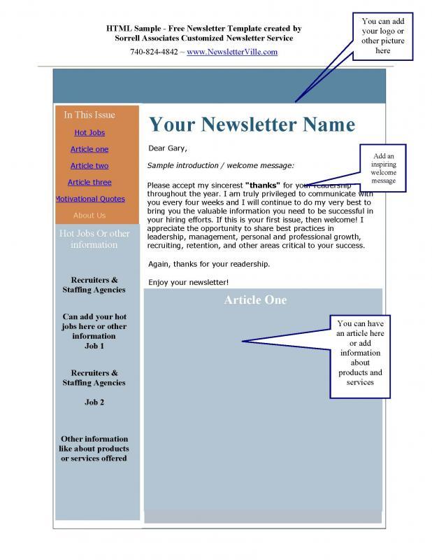 template for newsletter