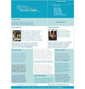 template for newsletter newsletter templates a