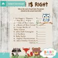 template for raffle tickets woodland animals baby shower games price is right