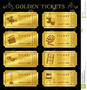 template for raffle tickets golden vector cinema tickets set eight coupons templates file organized layers to separate graphic elements