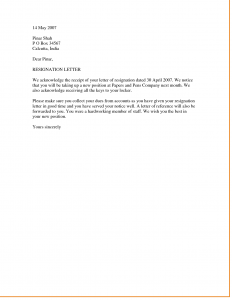 template resignation letter letter of resignation nz we notice that you will be taking up a new position at paper and pers company resignation letter examples collection format