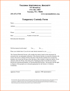temporary custody agreement temporary guardianship agreement
