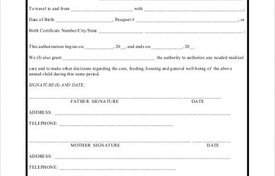 temporary guardianship agreement form temporary authorization guardianship form