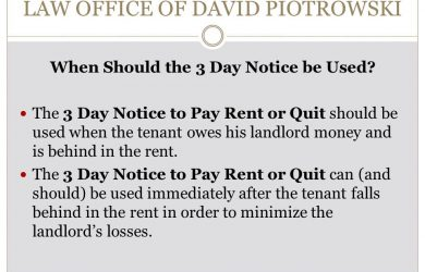 tenant eviction notice slide