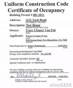 termination letter california certificate of occupancy