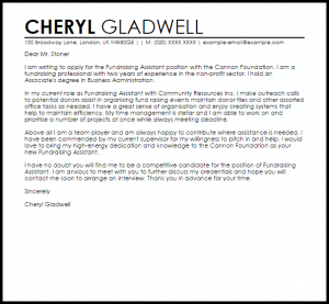 termination letter example fundraising assistant