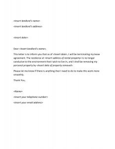 Termination Letter Template Termination Letter  Format Of Termination Letter