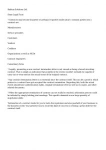 termination of contract contract termination letter